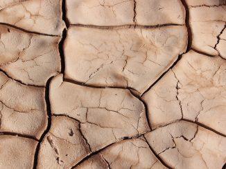 אדמה יבשה ומבוקעת