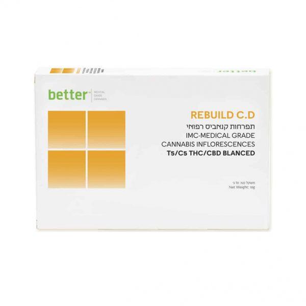 תפרחת קנאביס ריבילד סי.די היבריד T5/C5 - REBUILD CD Hybrid
