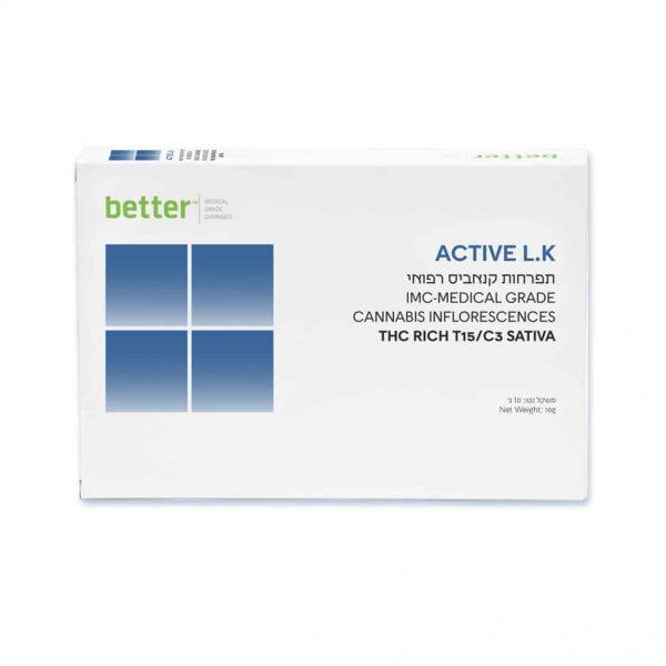 תפרחת קנאביס אקטיב אל.קיי סאטיבה T15/C3 - ACTIVE LK Sativa