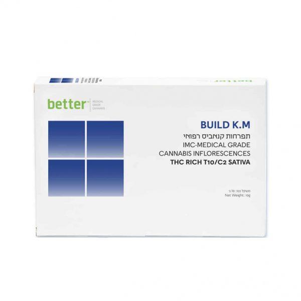 תפרחת קנאביס בילד קיי.אם סאטיבה T10/C2 - BUILD KM Sativa
