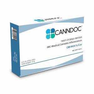 תפרחת קנאביס קנדוק היבריד T1/C20 - Canndoc Hybrid