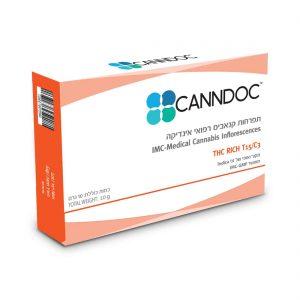 תפרחת קנאביס קנדוק אינדיקה T15/C3 - Canndoc Indica