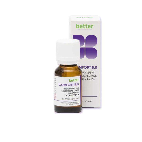 שמן קנאביס רפואי קומפורט ביבי T15/C3