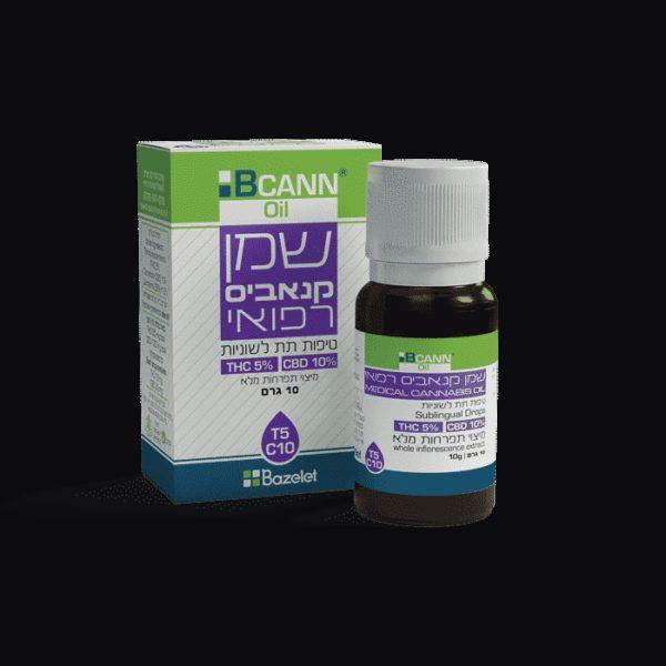 שמן קנאביס רפואי ביקאן T5/C10