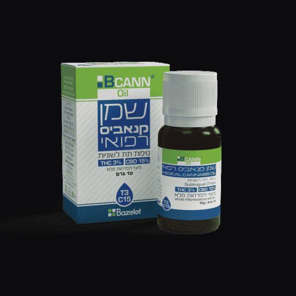 שמן קנאביס רפואי ביקאן טופ סאטיבה T3/C15