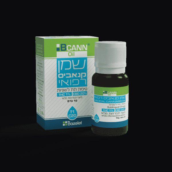 שמן קנאביס רפואי ביקאן טופ סאטיבה T1/C20