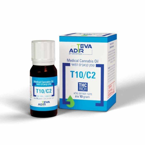 שמן קנאביס רפואי טבע אדיר T10/C2