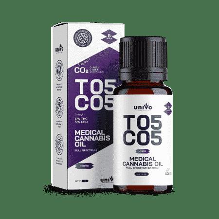 שמן קנאביס רפואי יוניבו מיצוי CO2 T5/C5
