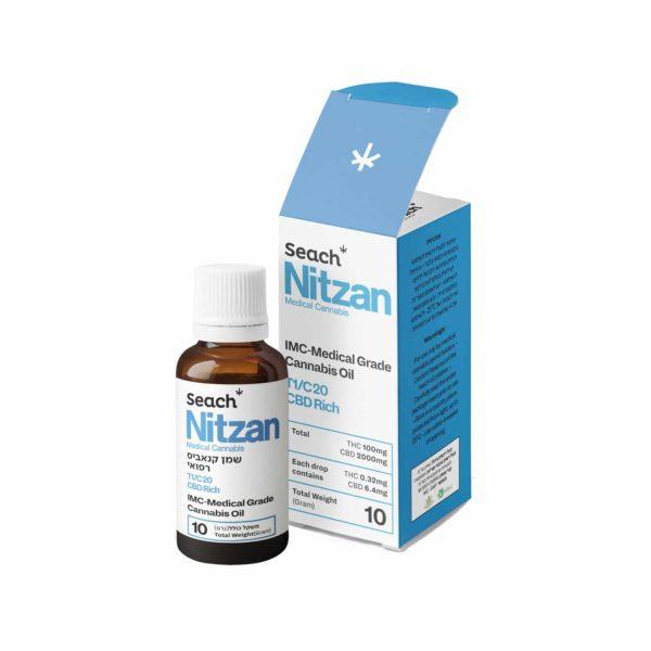 שמן קנאביס רפואי ניצן T1/C20