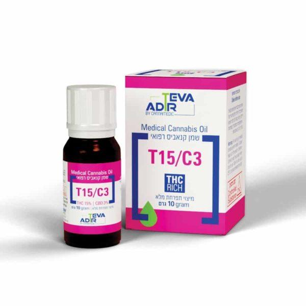 שמן קנאביס רפואי טבע אדיר T15/C3